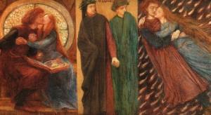 Paolo and Francesca da Rimini by Dante Gabriel Rossetti (1855)