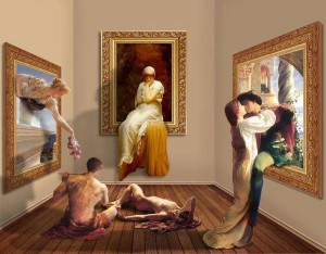 Shorra, Night at the Art Gallery, digital art