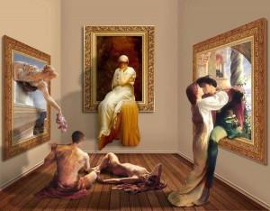 Shorra, Night at the Art Gallery, digital art